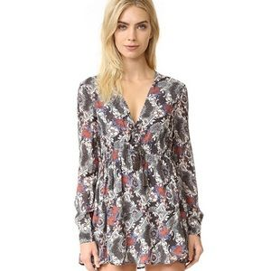 Free People Stealing Fire Printed Peasant Dress XS